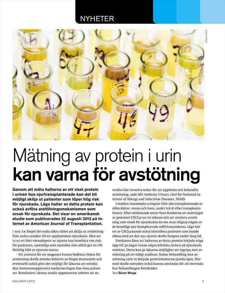 protein i urinen orsak