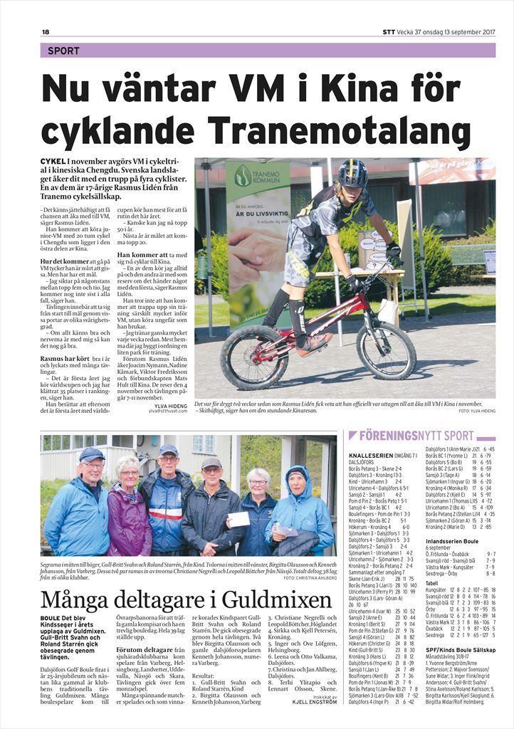 Cyklist med lysande facit