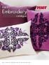 Pfaff Embroidery Catalogue, 1/2012