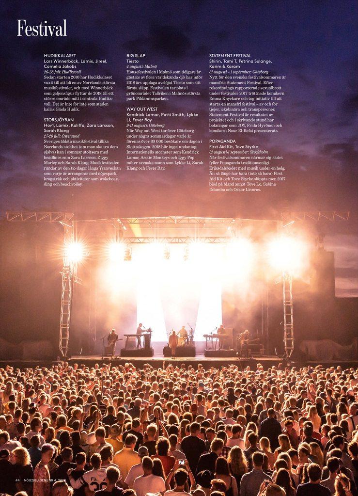 sveriges största festivaler 2018